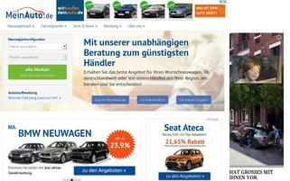 MeinAuto.de Webseiten Screenshot