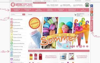 MeinCupcake Webseiten Screenshot