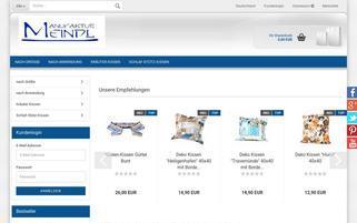 meindl-kissen.de Webseiten Screenshot