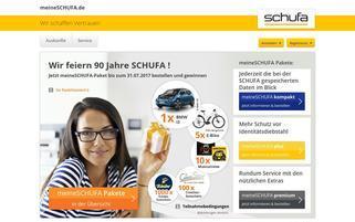 meine SCHUFA Webseiten Screenshot