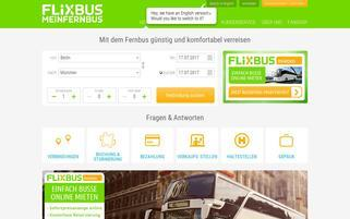 MeinFernbus Webseiten Screenshot