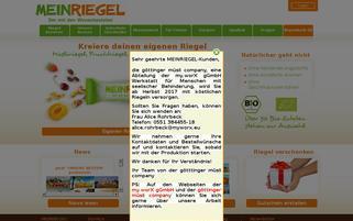 MEINRIEGEL Webseiten Screenshot