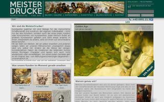 meisterdrucke.com Webseiten Screenshot