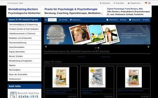 Mentaltraining Beckers Webseiten Screenshot
