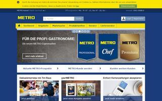 Metro Webseiten Screenshot