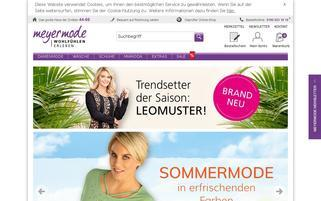 Meyer Mode Webseiten Screenshot