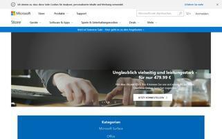 microsoftstore.com Webseiten Screenshot