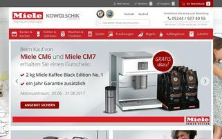Miele Webseiten Screenshot
