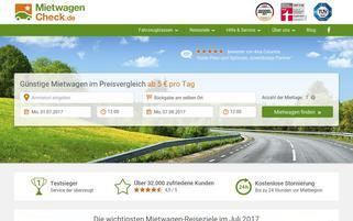Mietwagen Check Webseiten Screenshot