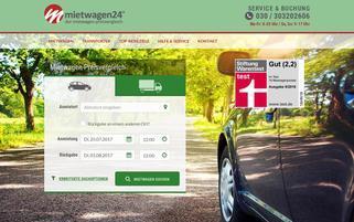 Mietwagen24 Webseiten Screenshot