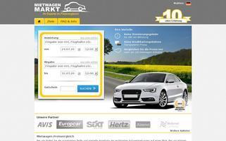 Mietwagenmarkt Webseiten Screenshot