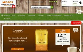 Migros Webseiten Screenshot