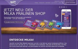 Milka Webseiten Screenshot