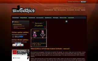 mini-gothics.de Webseiten Screenshot