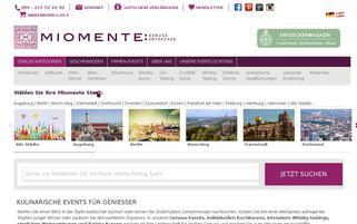 Miomente Webseiten Screenshot