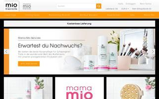 mioskincare.de Webseiten Screenshot