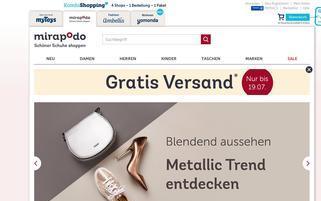 mirapodo.de Webseiten Screenshot
