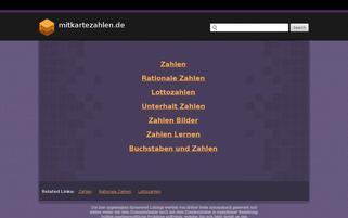 mitkartezahlen.de Webseiten Screenshot