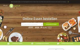 mjam Webseiten Screenshot