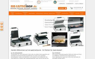 MM-Gastroshop Webseiten Screenshot