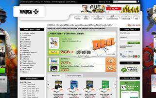 MMOGA Webseiten Screenshot