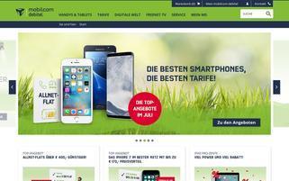 Mobilcom Debitel Webseiten Screenshot