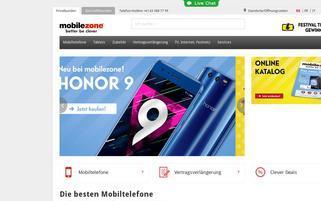 Mobilezone Webseiten Screenshot