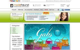 Modefreund Webseiten Screenshot