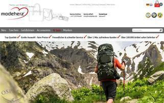 modeherz Webseiten Screenshot