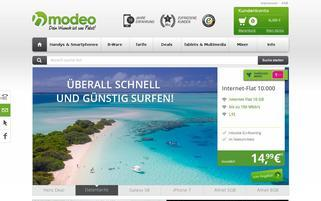 Modeo Webseiten Screenshot