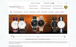 Modeschmuck-for-you Webseiten Screenshot