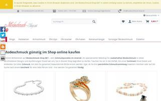 Modeschmuck-Shop.net Webseiten Screenshot