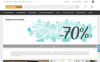 Möbel Eins Webseiten Screenshot
