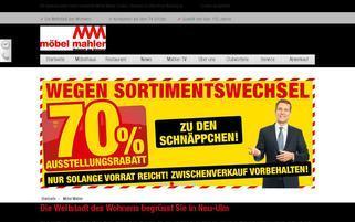 Möbel Mahler Webseiten Screenshot