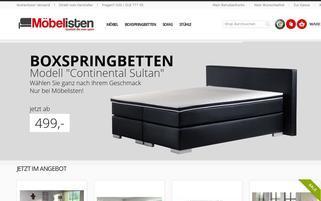 Möbelisten Webseiten Screenshot