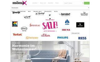 mömax Webseiten Screenshot