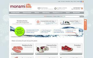 monamikids Webseiten Screenshot