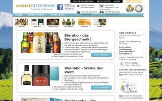 Monatsgeschenke Webseiten Screenshot