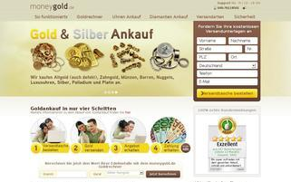 MoneyGold Webseiten Screenshot