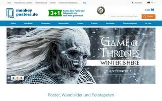 monkeyposters.de Webseiten Screenshot