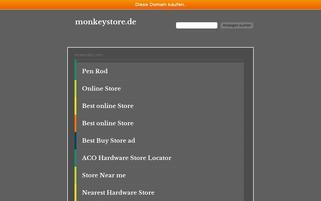 monkeystore.de Webseiten Screenshot