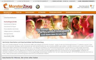 Monsterzeug Webseiten Screenshot