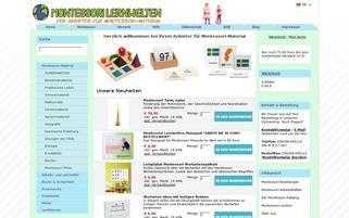 montessori-material.de Webseiten Screenshot