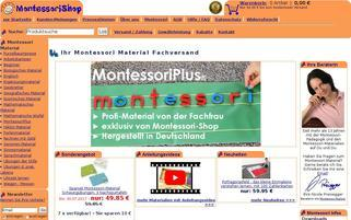 Montessori Shop Webseiten Screenshot