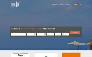 Montigo Hotels Webseiten Screenshot