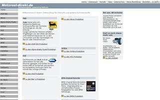 Motoröl-direkt Webseiten Screenshot