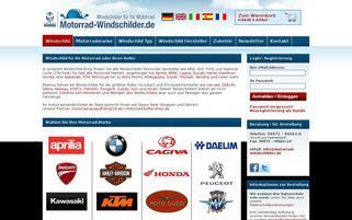 Motorrad Windschilder Webseiten Screenshot