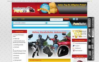 MotorradParts24 Webseiten Screenshot