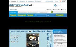 MotorradreifenDirekt.ch Webseiten Screenshot