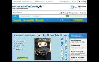 Motorradreifendirekt Webseiten Screenshot